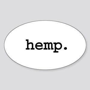 hemp. Oval Sticker