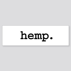 hemp. Bumper Sticker