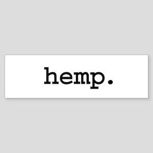 hemp. Bumper Sticker