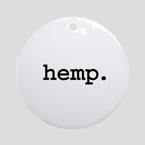 hemp. Ornament (Round)
