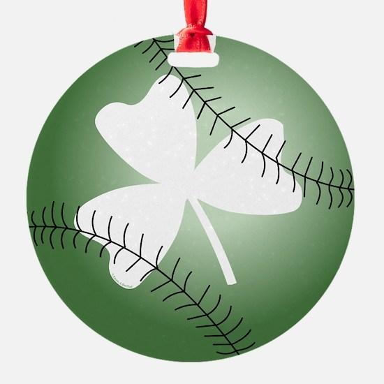 Baseball Shamrock Ornament
