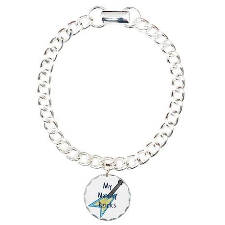 mynannyrockswguitar Charm Bracelet, One Charm