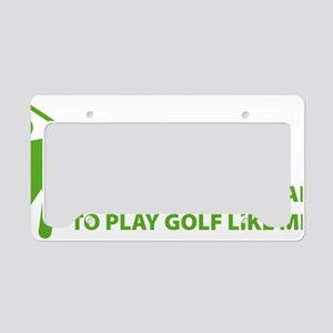 golfBalls3 License Plate Holder