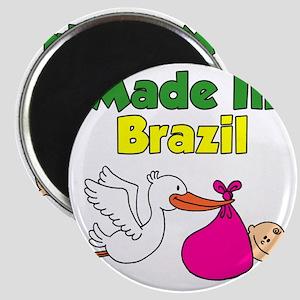 Made In Brazil Girl Magnet