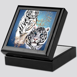 IpodSleeve Two White Tigers Keepsake Box