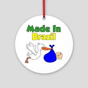 Made In Brazil Boy Round Ornament