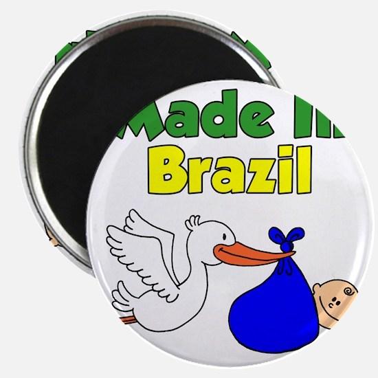 Made In Brazil Boy Magnet