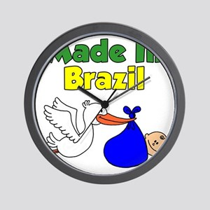 Made In Brazil Boy Wall Clock