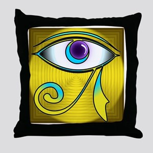 eyecolorfulsquares Throw Pillow