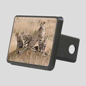 Cheetah and cubs5 -large Rectangular Hitch Cover