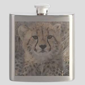 Cheetah Cub4-1large Flask