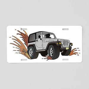 jeep ribicon. Aluminum License Plate