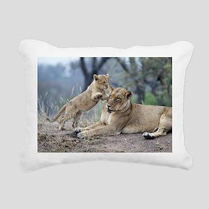 Sparta Cubs Playing Rectangular Canvas Pillow
