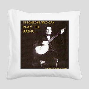 A Gentleman Square Canvas Pillow