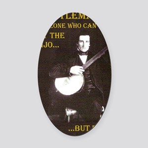 A Gentleman Oval Car Magnet