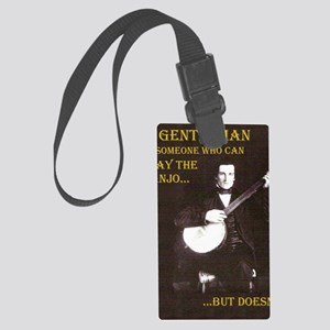 A Gentleman Large Luggage Tag