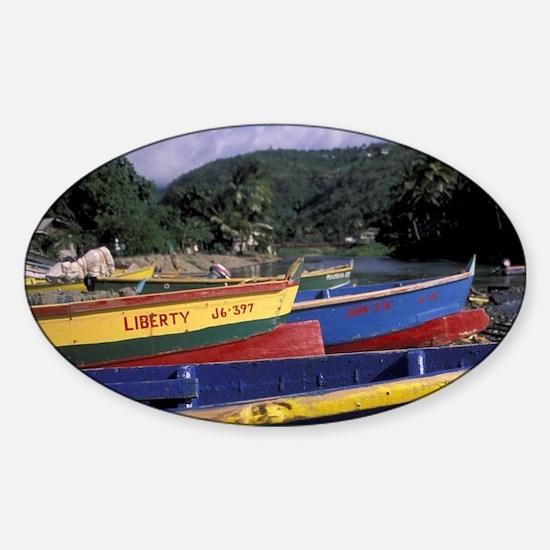 Caribbean, St. Lucia, West Coast, C Sticker (Oval)