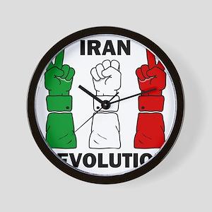 IranRevolution-clear Wall Clock