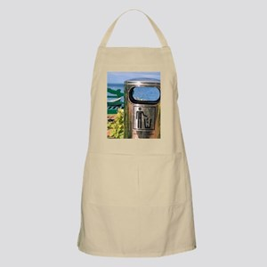 Caribbean, St. Lucia, Soufriere. Trash can n Apron