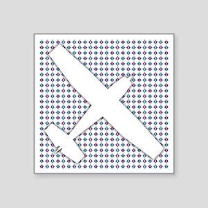 "airport-cessna Square Sticker 3"" x 3"""