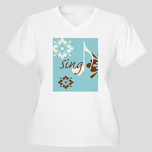 journalSing Women's Plus Size V-Neck T-Shirt