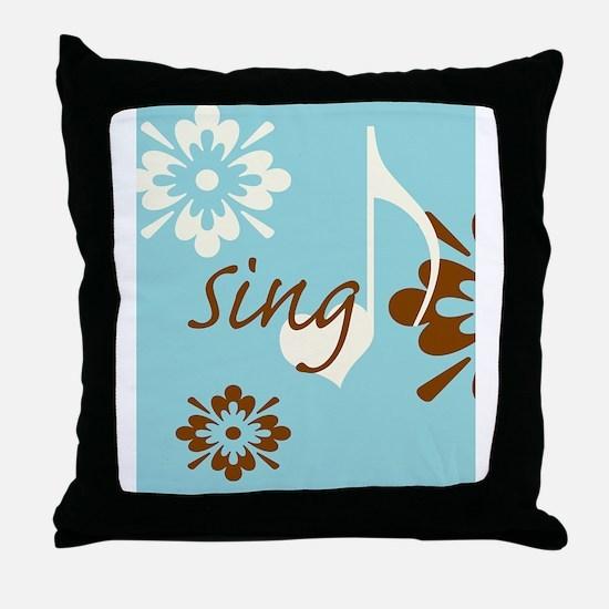 journalSing Throw Pillow