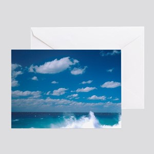 Waves in the Grand Cayman Islands. Greeting Card