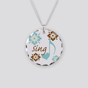 sing3 Necklace Circle Charm