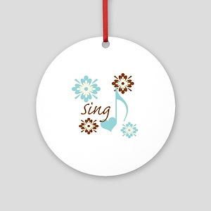 sing3 Round Ornament