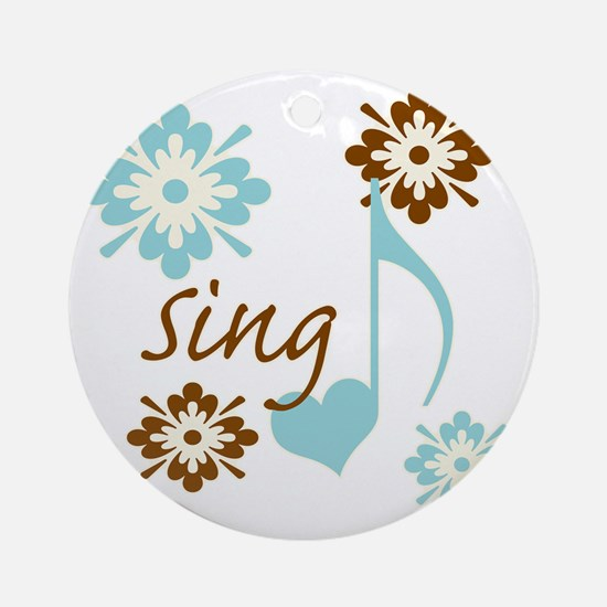 sing3 Round Ornament