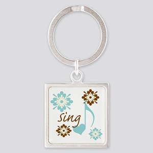 sing3 Square Keychain