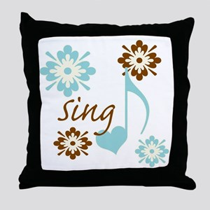 sing3 Throw Pillow