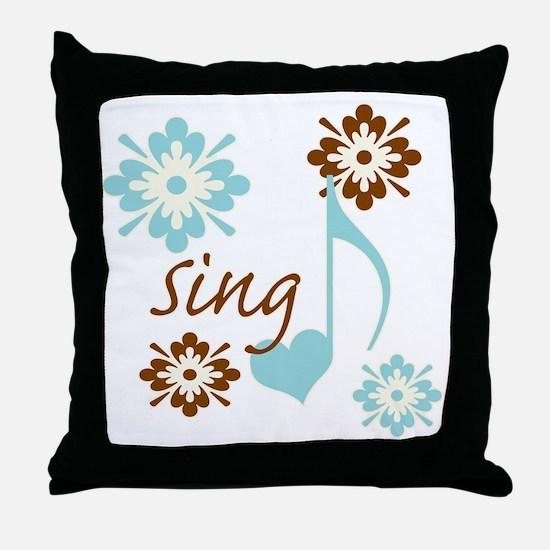 sing3 Throw Pillow