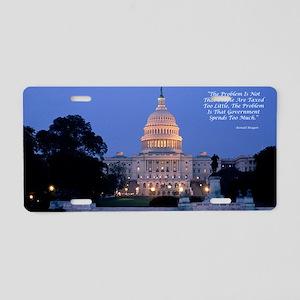 capital Aluminum License Plate