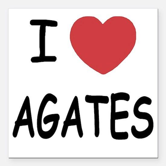 """AGATES Square Car Magnet 3"""" x 3"""""""