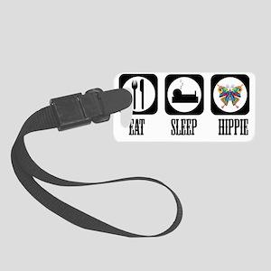 eat sleep Hippie Small Luggage Tag