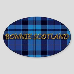 Bonnie Scotland Strathclyde Tartan  Sticker (Oval)