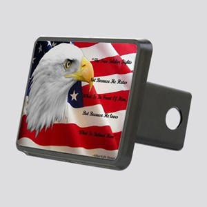 americanflag Rectangular Hitch Cover