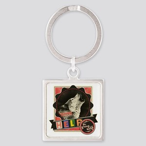 Endangered-gray-wolf-1 Square Keychain
