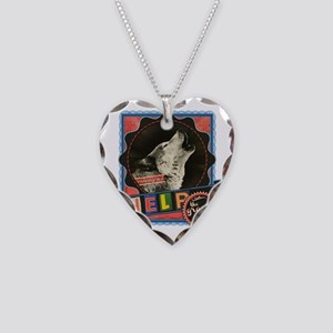 Endangered-gray-wolf-2 Necklace Heart Charm