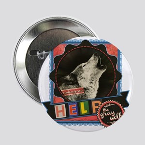 "Endangered-gray-wolf-2 2.25"" Button"