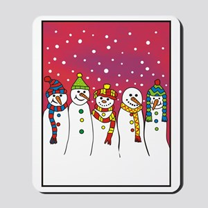 snowmen x5 ipad Mousepad