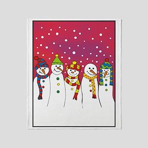 snowmen x5 ipad Throw Blanket