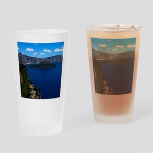 (15) Crater Lake  Wizard Island Drinking Glass