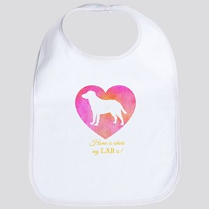 home is where my lab is Baby Bib