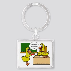 SAC.ApplePie.zazzle.nobackgroun Landscape Keychain