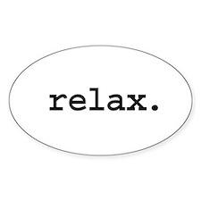 relax. Oval Sticker