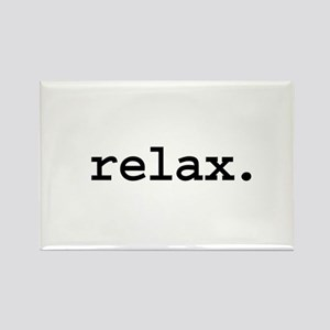 relax. Rectangle Magnet