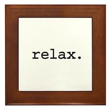 relax. Framed Tile
