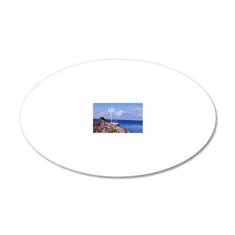 Caribbean, BWI, St. Lucia, A 20x12 Oval Wall Decal